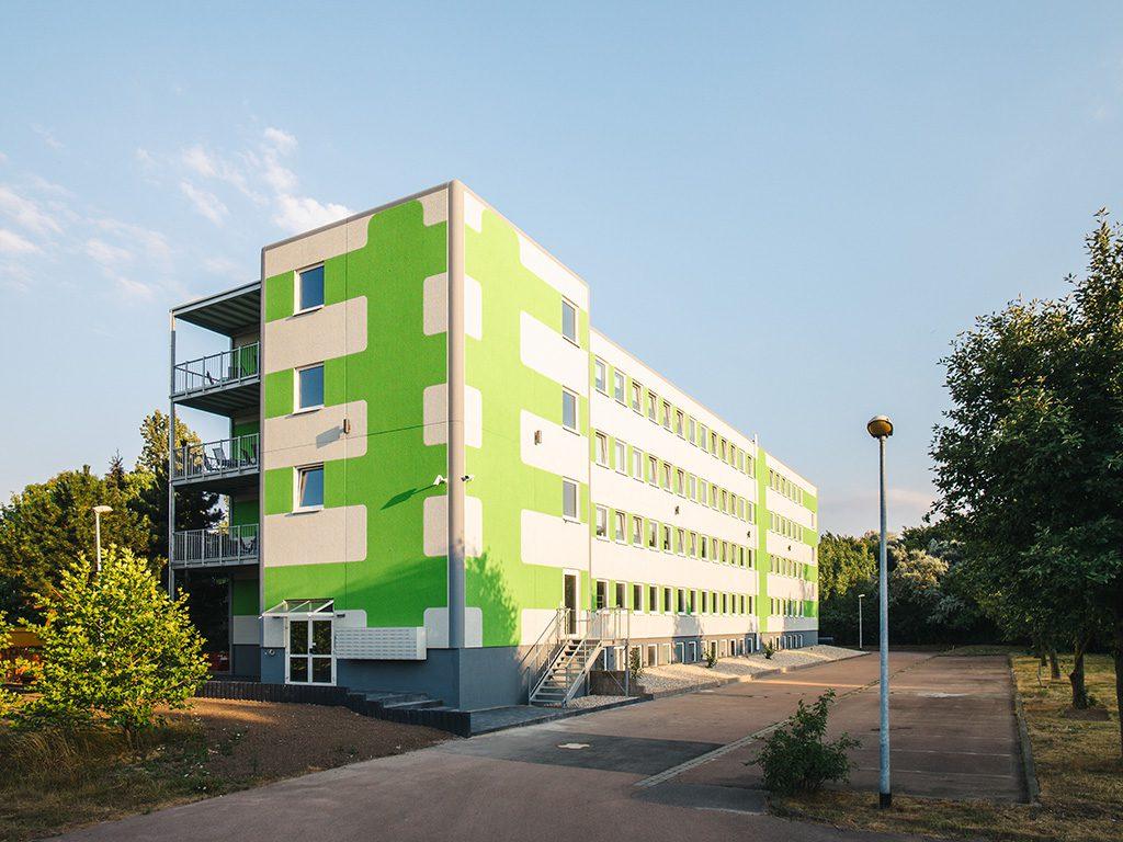 Außenansicht Waldstadt Immobilien in Halle Saale Peißen